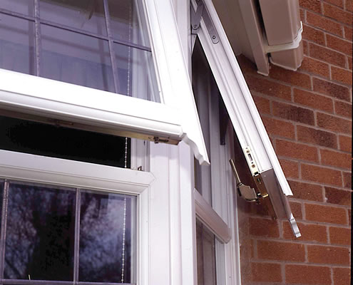 UPVC casement with security locks
