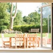 Bifoldi doors onto decking
