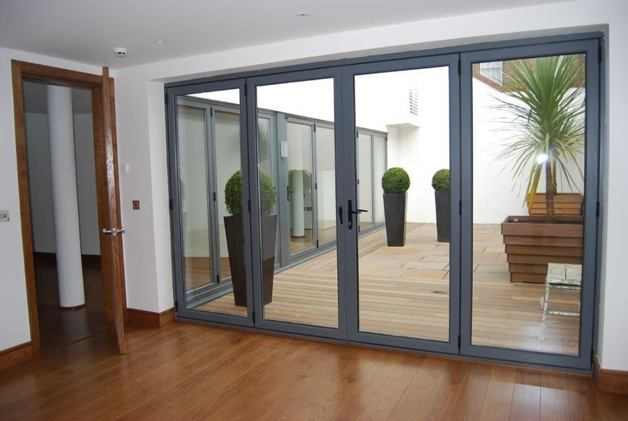 Aluminium bi fold doors enfield bi fold doors north london for Folding doors