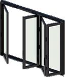 Aluminium bifold doors icon