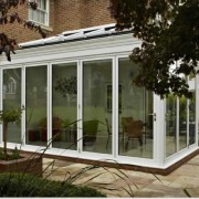 Bilfold doors closed on conservatory