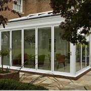Bilfold doors closed on conservatory