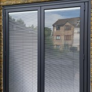 Black origin bifold door