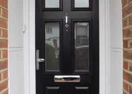 Black solidor composite door