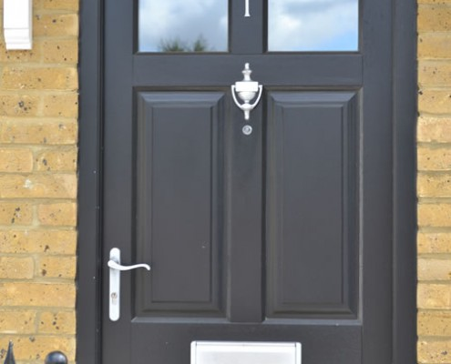 Black timber front door