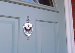 Blue composite door in london