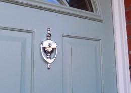 Blue composite door in london