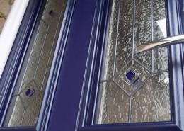 Blue composite door close up
