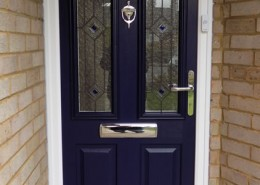 Blue composite solidoor door