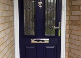 Blue composite solidoor door