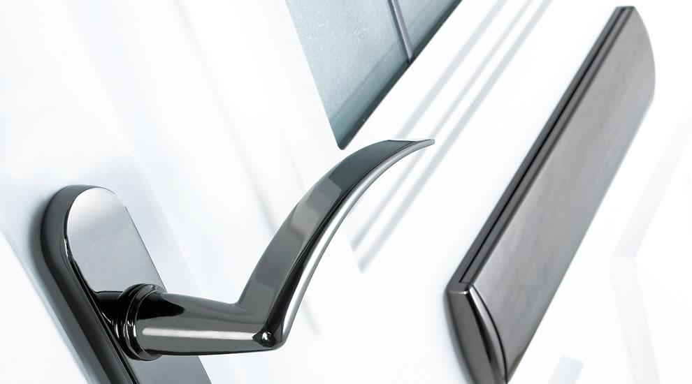 White composite door close up