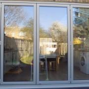 Pebble grey bifold door installation