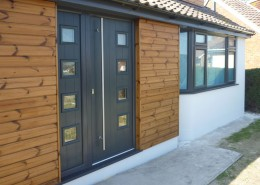 Composite door and panel