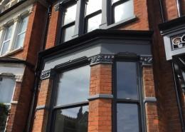 Grey UPVC sash windows