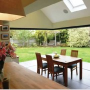 Kitchen bi-folding doors