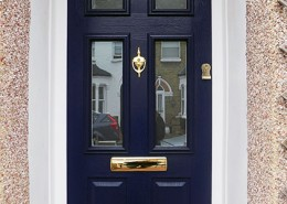Navy blue composite door