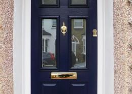 Navy blue composite door