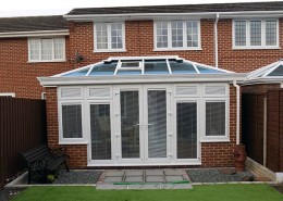 UPVC conservatory in red brick