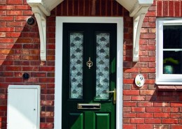 Green timber door