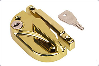 Brass lock for sash window