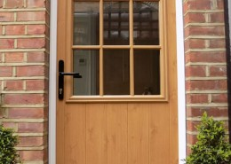 Timber effect solidor door