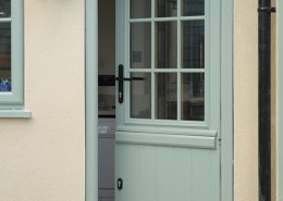 Blue split composite door