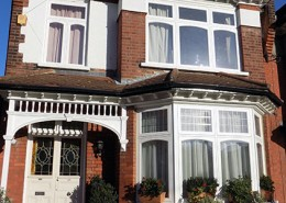 Three timber casement windows