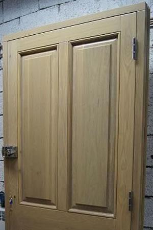 New timber door in frame
