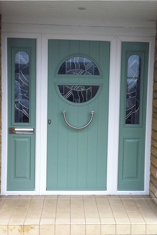 ... Timber door with panel either side · UPVC double ... & Replacement Doors Enfield | Wooden UPVC Aluminium and Composite doors
