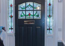 Interior of timber front door