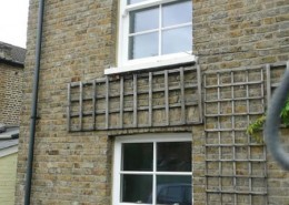 Timber sash windows in cottage
