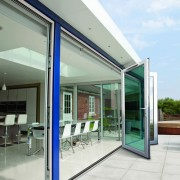 Kitchen bi-fold doors open