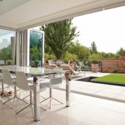 UPVC bifold doors open