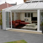 UPVC bifold door open