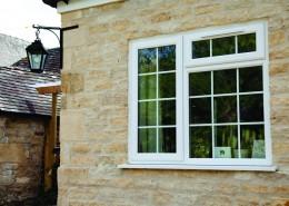 UPVC Casement window in white