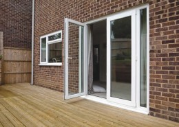 UPVC bifolds in white