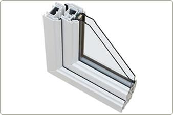 UPVC sash window cross section