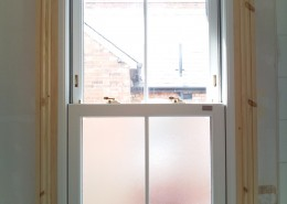 Interior view of sash window