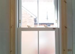 Interior view of sash window