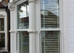 Wooden sash with blinds