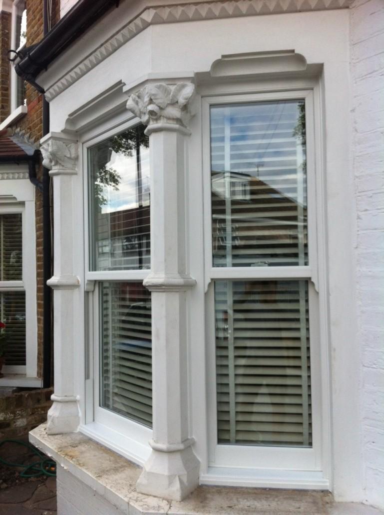 Upvc sash windows enfield double glazed sash windows for Blinds for upvc patio doors