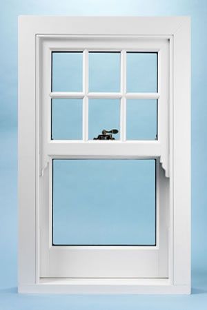 New UPVC sash window