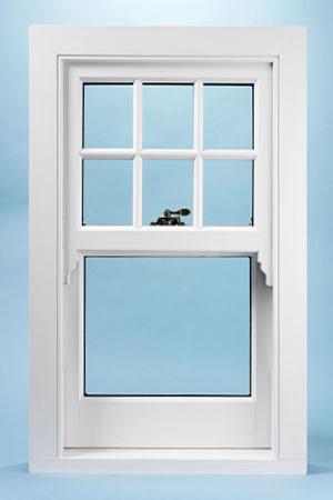 New UPVC sash window