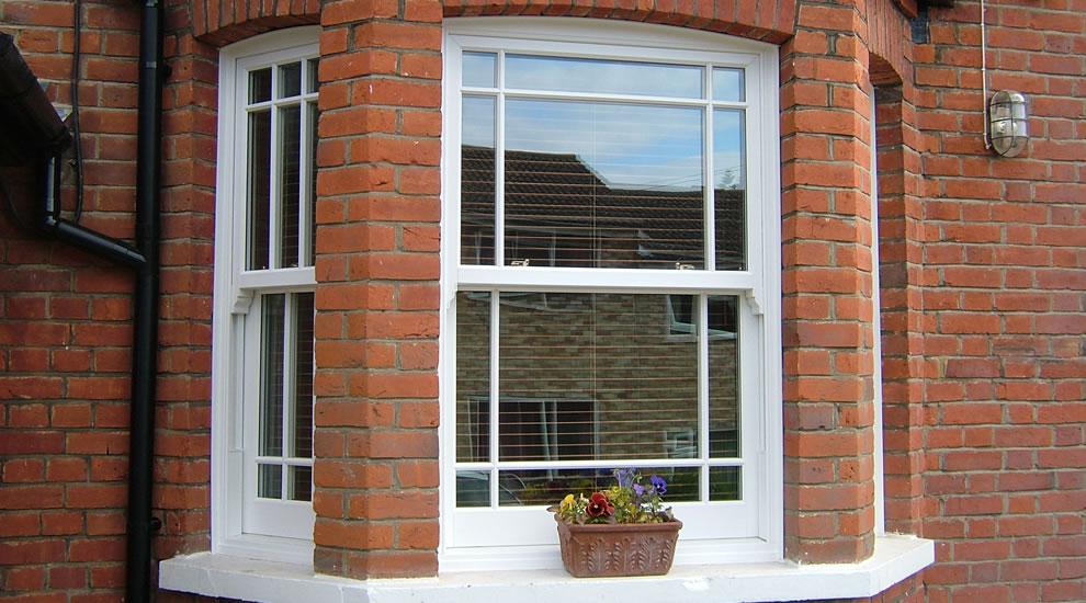 UPVC sash window installation