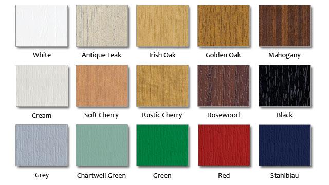 UPVC colour options
