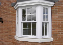 White vertical sash window
