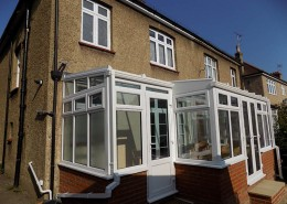 white upvc conservatory side view
