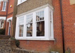 White timber sash window hertfordshire