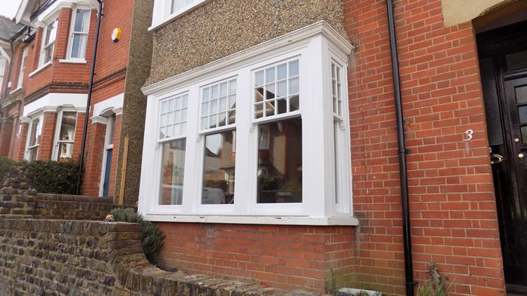 White timber sash window hertfordshire