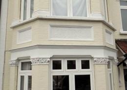 White wooden windows installation
